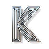 Wire outline font letter K 3D