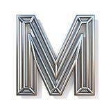 Wire outline font letter M 3D