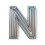Wire outline font letter N 3D