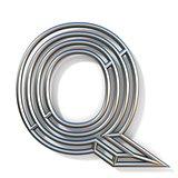 Wire outline font letter Q 3D