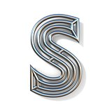 Wire outline font letter S 3D