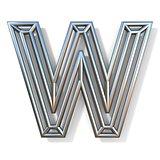 Wire outline font letter W 3D