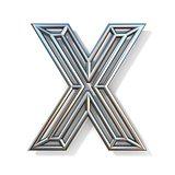 Wire outline font letter X 3D