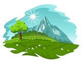 Summer landscape. Vector illustration