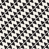 Hand drawn abstract seamless pattern in black and white. Retro grunge freehand jagged lines texture.