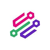 Creative Network Concept Logo Design Template. Abstract technology logo