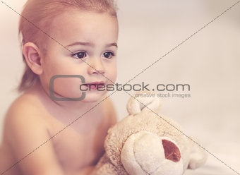 Little boy with soft toy