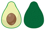 Vector Funny Avocado