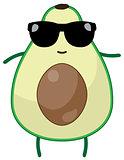 Vector Funny Avocado