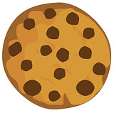 Vector Chocolte Chip Cookie