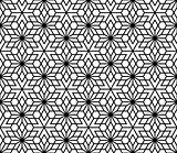 Seamless traditional Japanese Kumiko ornamen without lattice
