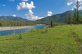 Katun River. Altai, Russia.