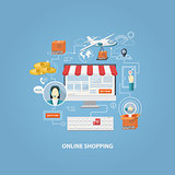 Crypto currency shopping concept,buying online