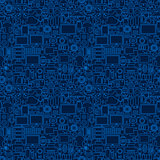 Gadgets Line Seamless Pattern