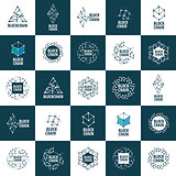 Vector logo blockchain