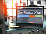 Chief Financial Officer Job Vacancy. 3D.