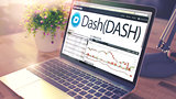 The Dynamics of Cost of DASH onLaptop Screen. Cryptocurrency Con