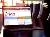 Driver Hiring Now. 3D.