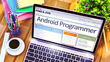 Android Programmer Hiring Now. 3D.