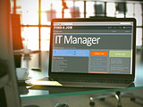 Job Opening IT Manager. 3D.