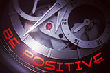 Be Positive on the Luxury Wrist Watch Mechanism. 3D.