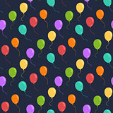 Ballons seamless vector pattern.