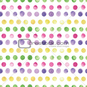Watercolor vector seamless pattern. Seamless pattern can be used for wallpaper, pattern fills, web page background,surface textures.