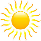 Sun with zigzag rays
