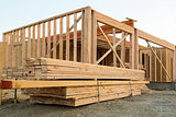 Wood Lumber by House Construction