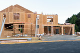 New House Construction in North America Subdivision