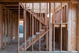 New Home Construction Wood Stud Framing
