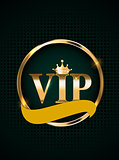 Abstract Luxury VIP Members Only Invitation Background Vector Illustration