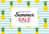 Summer Sale concept Background. Vector Illustration