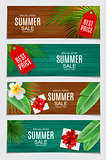 Abstract Vector Illustration Summer Sale Card Set  Background