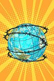 planet earth barbed wire