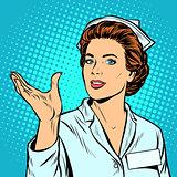 nurse holding gesture