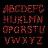 Abstract  red plexus neon font.