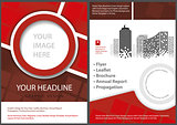 Flyer Template Front and Back in Red Tones