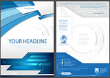 Flyer Template in Blue Tech Style