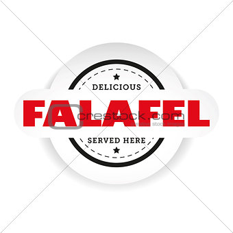 Falafel vintage stamp sign