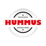 Hummus vintage stamp sign