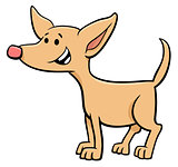 funny puppy cartoon comic character