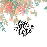 Vector illustration of Hello Love   with the inscription for pac