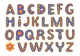 DECORATIVE ALPHABET Color Vector Illustration