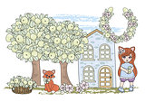 Fairy Clipart FOX FAIRY TALE Color Vector Illustration