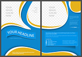 Flyer Template in Elegant Abstract Style