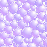 Seamless pattern with soap bubbles, realistic bubbles background, purple blob wallpaper, vector illustration