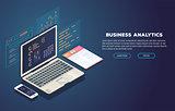 Business analytics and development banner