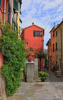Picturesque bright house in the ancient part of a small town in Tuscany