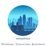 Minneapolis famous city scape.